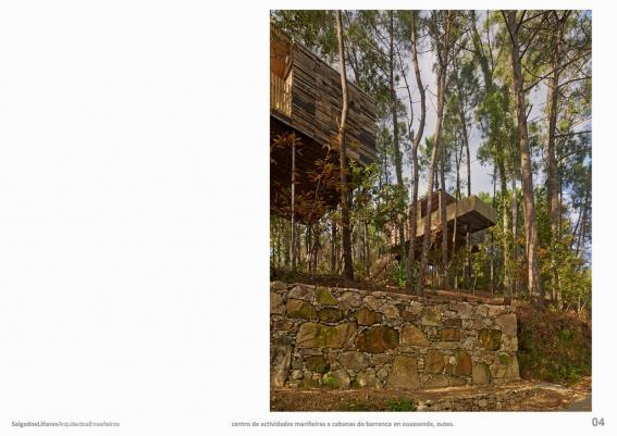 Centro de actividades mariñeiras e cabanas do barranco en Ousesende, Outes